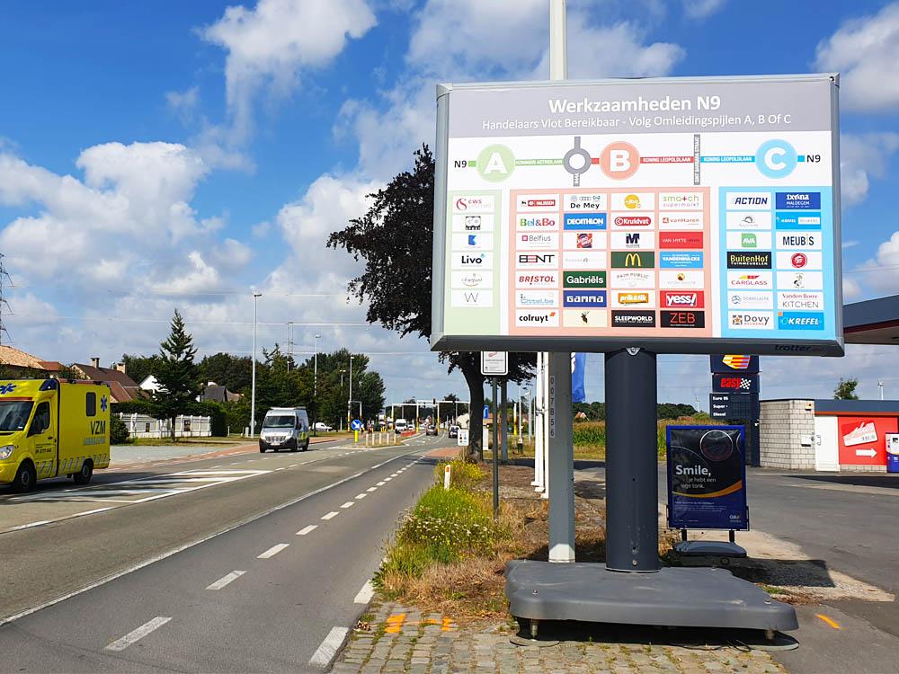 project met wegen en verkeer trotter belgië 1000x750