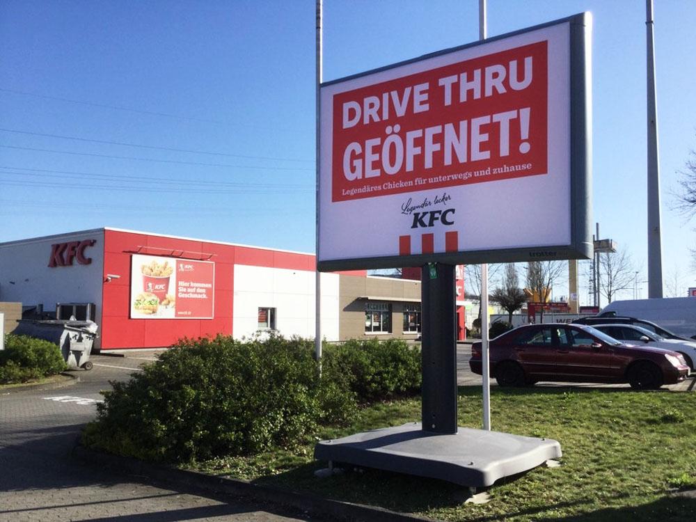 kampagne KFC Trotter kampagne deutschland 1000x750