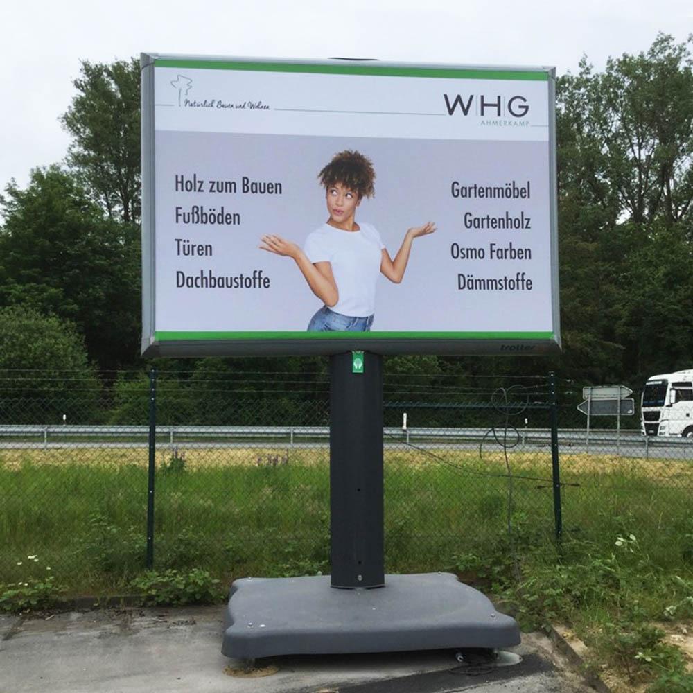 WHG Ahmerkamp Trotter billboard aussenwerbung 1000x1000