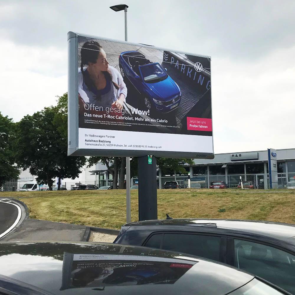 kampagne autohaus badziong VW trotter billboard aussenwerbung 1000x1000
