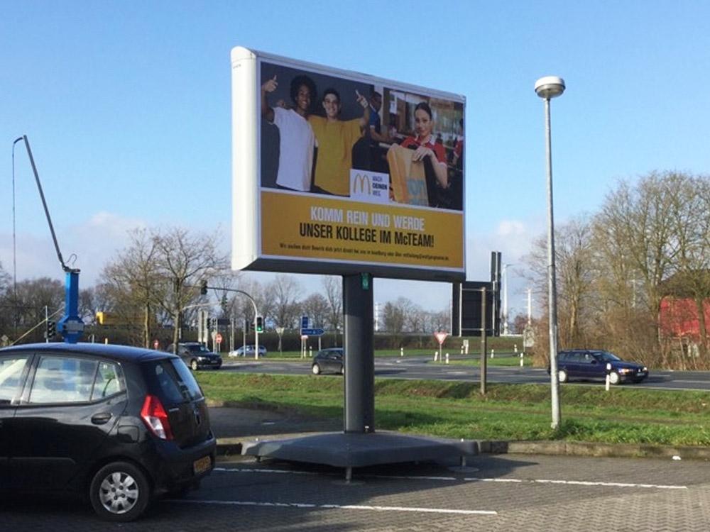 Kampagne McDonalds Wolfgang Hahne Trotter aussenwerbung 1000x750