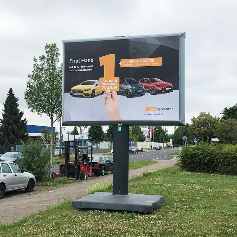Trotter kampagne Kubina Carcenter Köln aussenwerbung 1000x1000