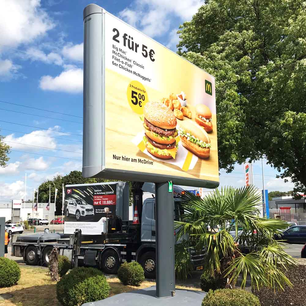 Kampagne McDonalds Markus Weber Trotter aussenwerbung werbeflache 1000x1000