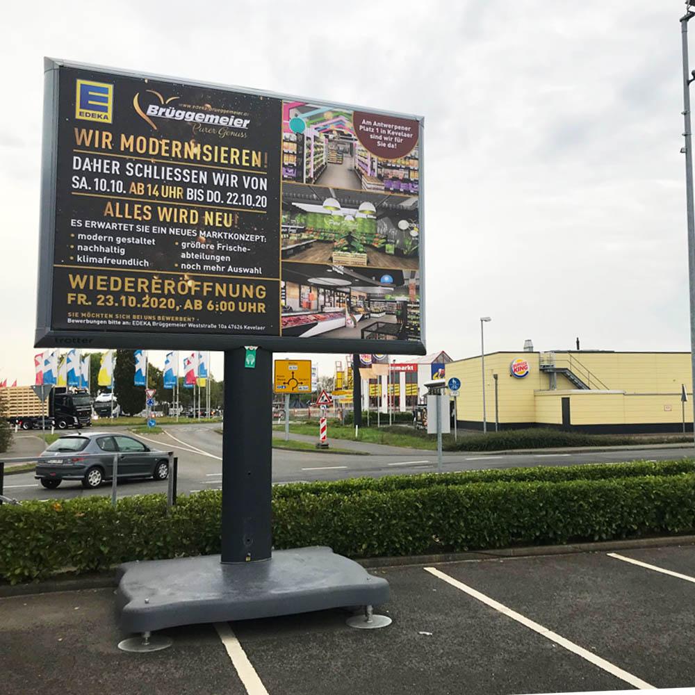 Kampagne Edeka Brüggemeier Kampagne einzelhandel aussenwerbung trotter werbeflache 1000x1000