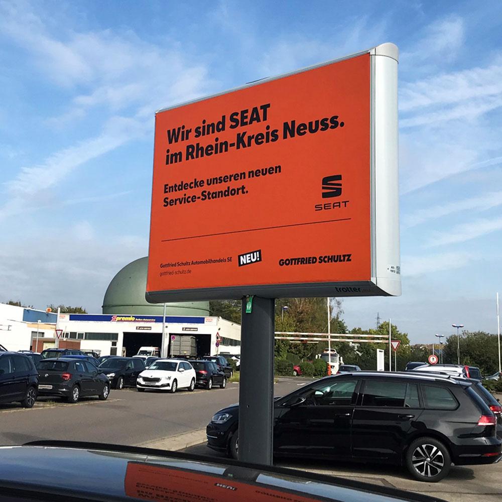 Kampagne Gottfried Schultz seat automotive marketing trotter aussenwerbung 1000x1000