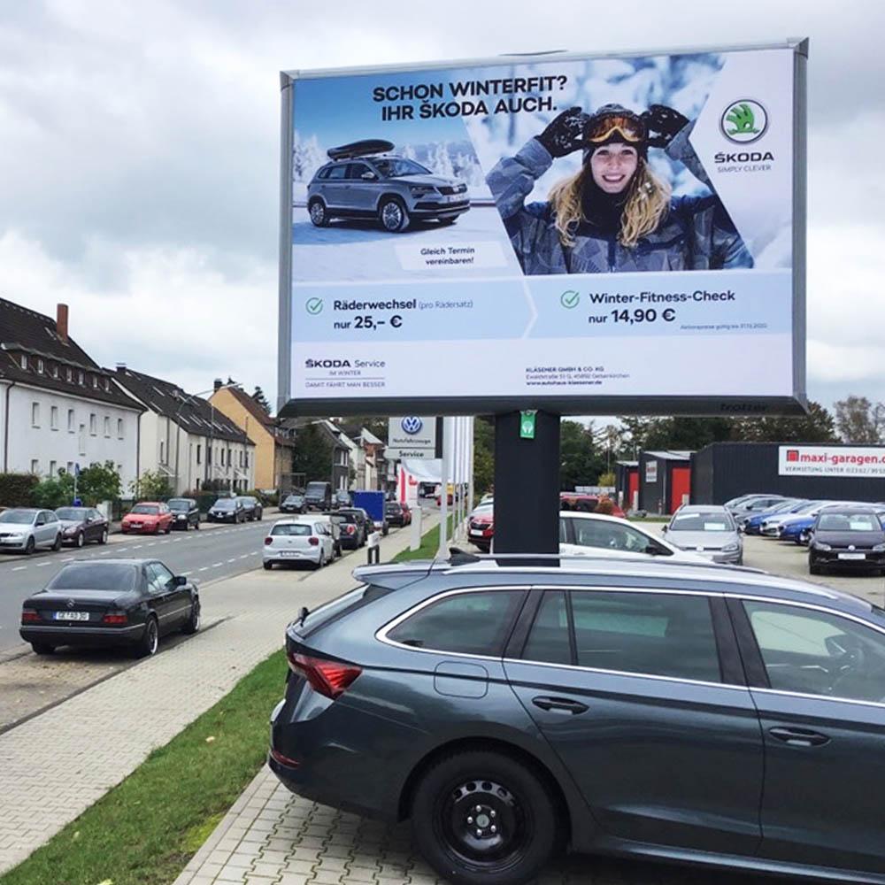 'Kampagne Kläsener GmbH SCHON WINTERFIT IHR SKODA AUCH 1000x1000