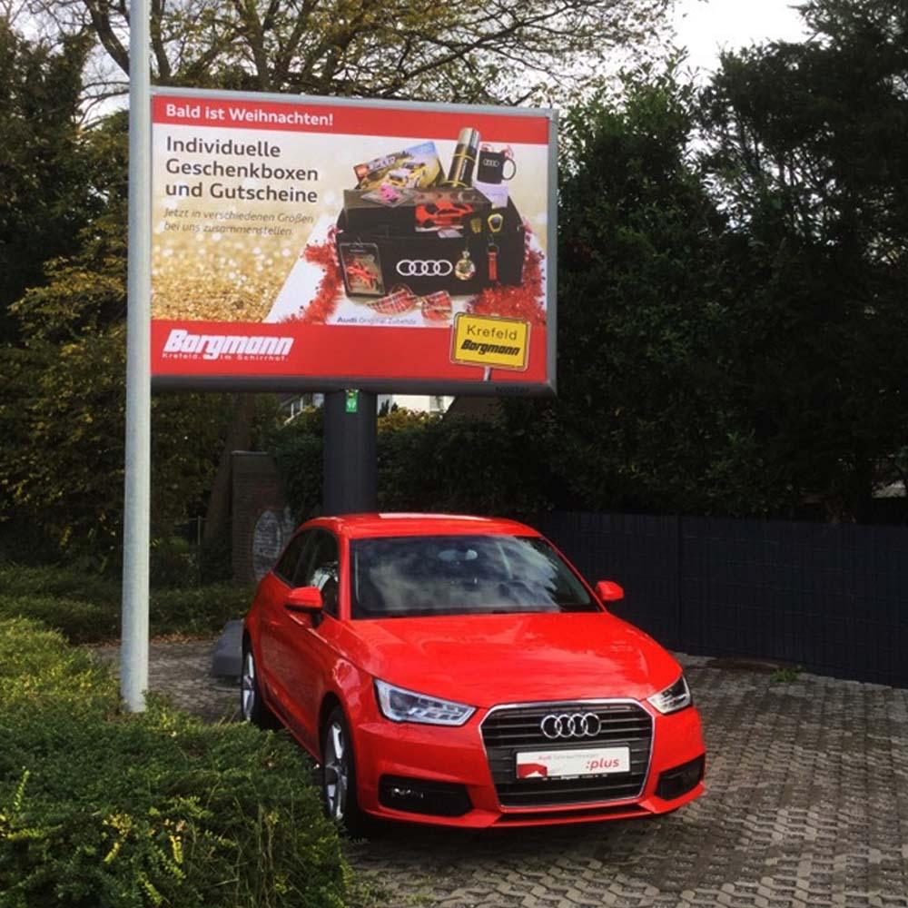 Kampagne Audi Borgmann Weihnachten Trotter billboards automotive werbung 1000x1000
